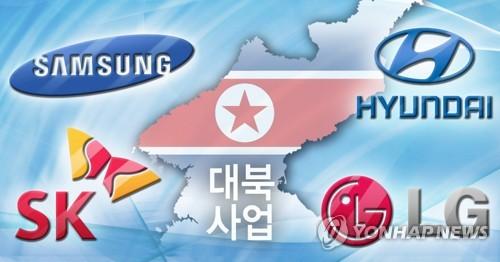 """'방북 한달' 4대그룹, 대북사업 발굴 '잠잠'…""""시기상조"""""""