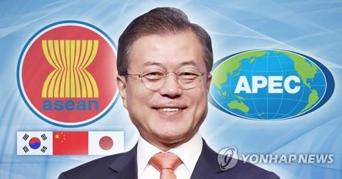 """문대통령, 아세안+3 회의서 """"비핵화, 동아시아 번영에 기여"""""""