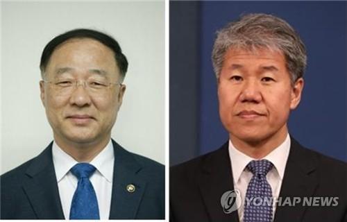 홍남기, 김수현