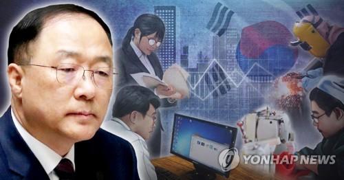 홍남기 신인 경제부총리 겸 기획재정부장관-한국 경제(PG)