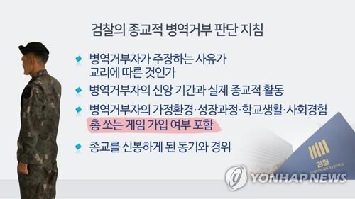 """종교적 신념 병역 거부 잇단 무죄…""""살상게임 접속 확인 안 돼"""""""