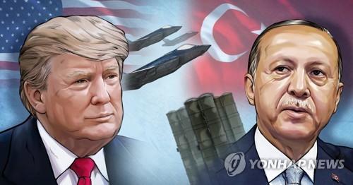 """트럼프 """"터키 경제 파괴""""…터키 각료 3명 블랙리스트에 올려(종합)"""
