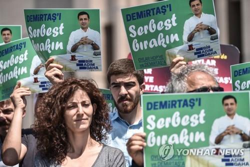 터키 대선 '옥중 유세'…인민민주당 셀라핫틴 데미르타시 후보