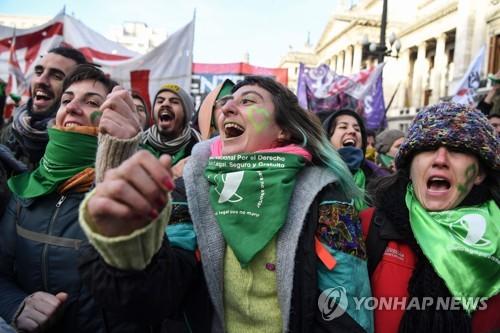 교황 모국 아르헨티나 하원, 임신 14주내 선택적 낙태 허용 가결