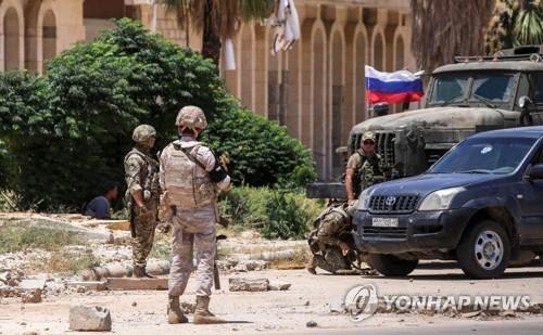 시리아군이 최근 탈환한 나십국경에 배치된 러시아군 헌병