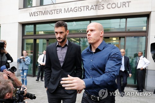 법원에 출두한 위고 요리스 [AFP=연합뉴스]