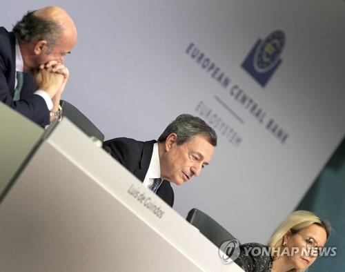 ECB, 성장률 전망 올해 2%→1.9%, 내년 1.8%→1.7%로 하향
