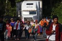 중미 온두라스서 올해 첫 캐러밴 결성…미국 향해 또 출발