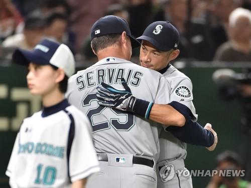 은퇴하는 이치로, MLB 도쿄돔 고별 경기서 '침묵'(종합)