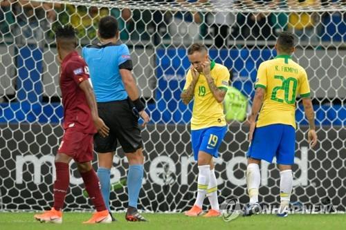 '3골 취소' 브라질, 코파 아메리카서 베네수엘라와 무승부
