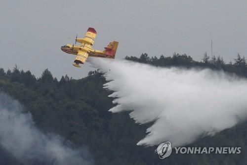 프랑스 남동부 오드 지역 산림서 큰불…900헥타르 태워