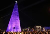 레바논, 12만 9천개의 '플라스틱 물병'으로 만든 크리스마스 트리 등장