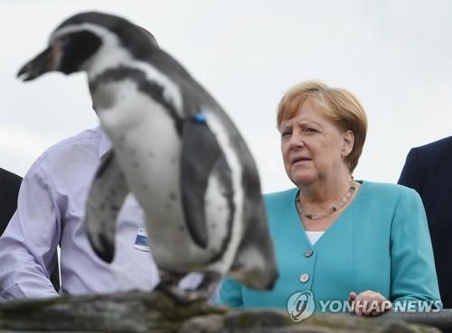 """메르켈, 美의 국방비 증액압박에 """"GDP 2% 향해 갈 것"""""""