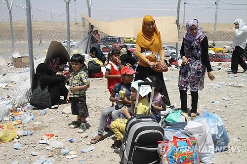 고향 떠난 이라크 주민들