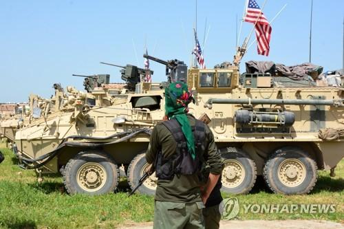 시리아 북부에 투입된 미군 장갑차량