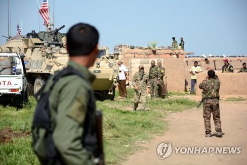 시리아 북부의 미군과 쿠르드 민병대