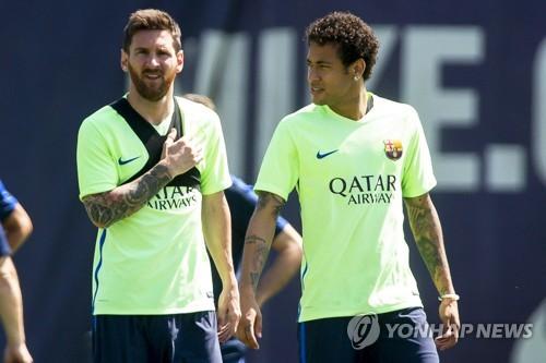 바르셀로나 시절 메시(왼쪽)와 네이마르