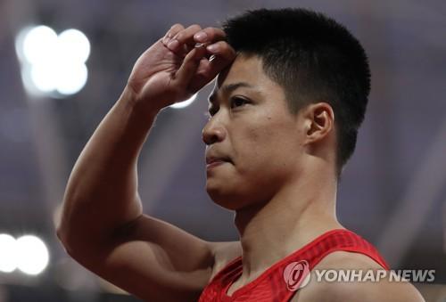 중국 쑤빙톈, 남자 100m 비공인 9초90…뒷바람 초속 2.4m