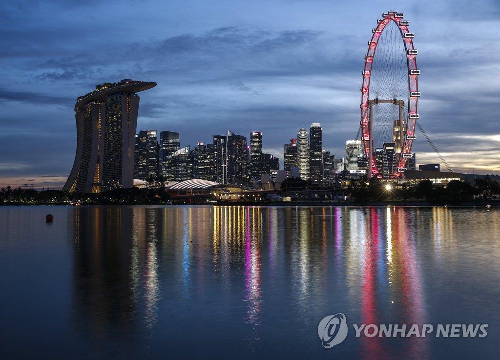 북미정상회담 열리는 싱가포르 시내 전경
