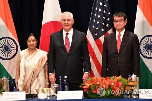 미·일·인도·호주, '인도·태평양 지역 협력' 구체화 논의