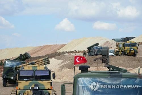 시리아 북서부에서 휴전 감시임무를 수행하는 터키군