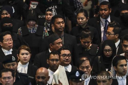 고개 숙인 김정남 암살 피고인들