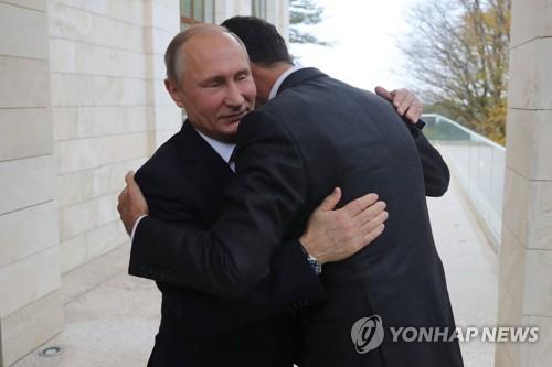 """""""아사드 대통령, 시리아 구해 준 푸틴(왼쪽) 대통령에 감사"""""""