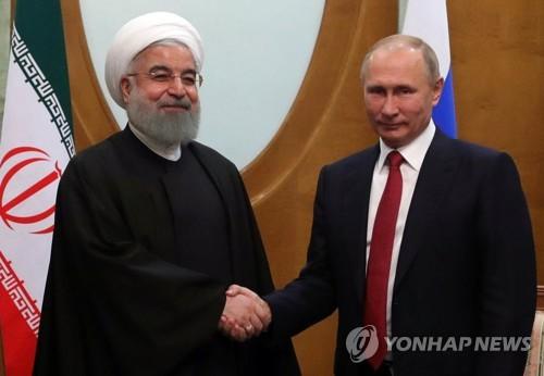 하산 로하니 이란 대통령과 블라디미르 푸틴 러시아 대통령[EPA=연합뉴스 자료사진]