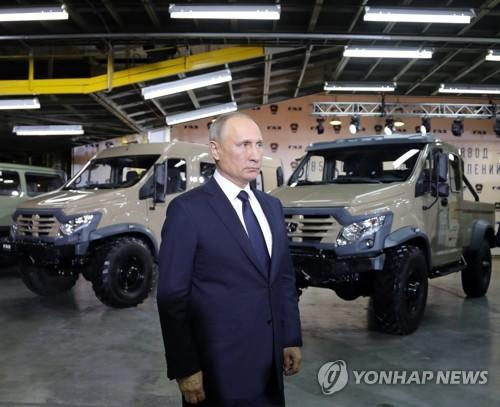 니즈니의 고리키 자동차공장을 방문한 푸틴 러시아 대통령