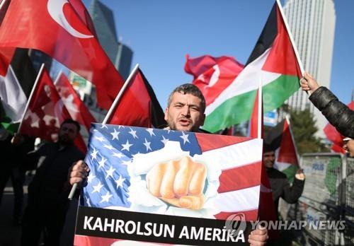 이스탄불의 반미 시위대