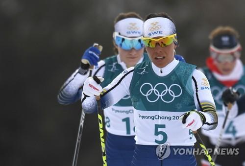 2018 평창올림픽 첫 금메달을 딴 샬로테 칼라. [EPA=연합뉴스]