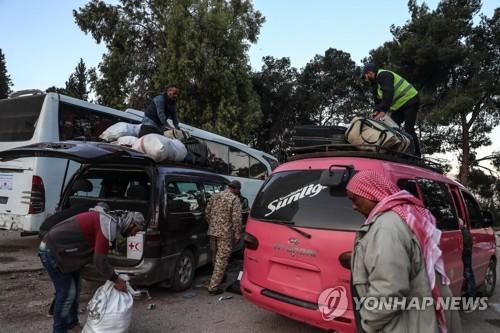 내전을 피해 피난에 나선 시리아 난민들 [EPA=연합뉴스자료사진]