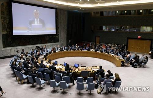 유엔 안보리, 이스라엘-팔레스타인 사태 논의 [EPA=연합뉴스]