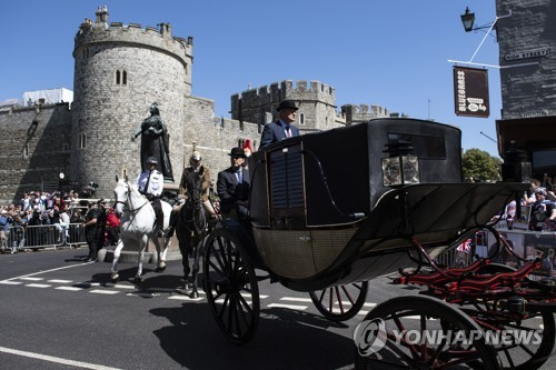 런던 인근 윈저 성에서 열리고 있는 결혼식 예행 연습 [EPA=연합뉴스]