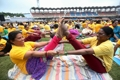 """""""모디와 요가를""""…인도 총리, 세계요가의날 맞아 4년째 단체요가"""