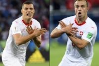 '독수리 세리머니' 스위스 선수들 징계받을 듯