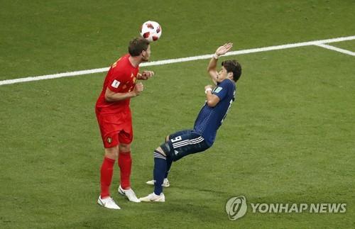 [월드컵] 브라질서 한국 울린 페르통언, '행운의 헤딩골'로 일본 울렸다