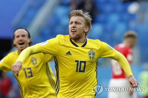 [월드컵] 잘 넣고 잘 막은 포르스베리, 스웨덴 '에이스' 임무 완수