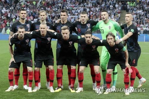 [월드컵] 크로아티아 4강전 선발 선수단  [EPA=연합뉴스]