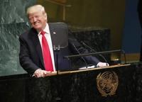 트럼프 치적 자랑 유엔총회 연설에 각국 정상 '키득키득'