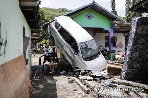 인도네시아 강진·쓰나미로 초토화된 동갈라 지역
