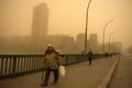 ′온통 누런 세상′…모래 폭풍 덮친 이집트
