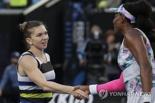 -호주오픈- 세계 1위 할레프, 비너스 꺾고 동생 세리나와 16강 맞대결..