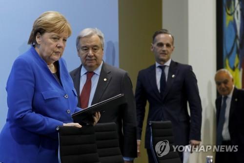 """'리비아 중재' 베를린 회담서 """"무기수출 금지 준수·개입 금지""""(종합)"""