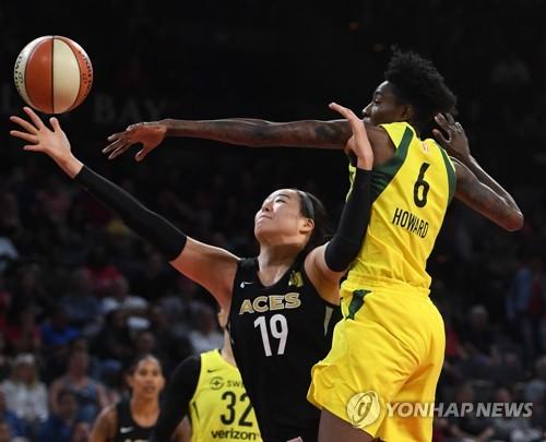 WNBA 박지수, 미네소타 상대로 31초만 출전…팀은 2연승