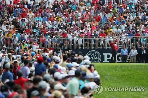 '타이거 효과' PGA챔피언십 시청률 69% 상승
