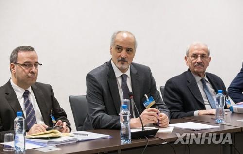 제8차 유엔 주도 시리아 평화회담에 참서간 시리아정부 대표단