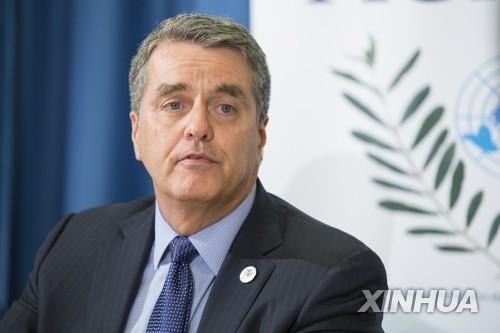 아제베도 WTO 사무총장[신화=연합뉴스 자료사진]