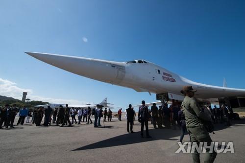 """러시아 """"전략폭격기 Tu-160, 카리브해 상공 10시간 비행"""""""