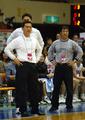 아테네 올림픽 예선 한국-일본 : 심판 판정에 어이없어 하는 한국 벤치